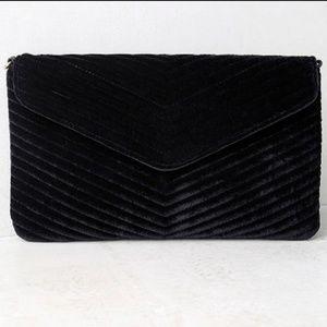 Lulu's Bags - NEW LULU'S Velvet Chevron Envelope Clutch Handbag